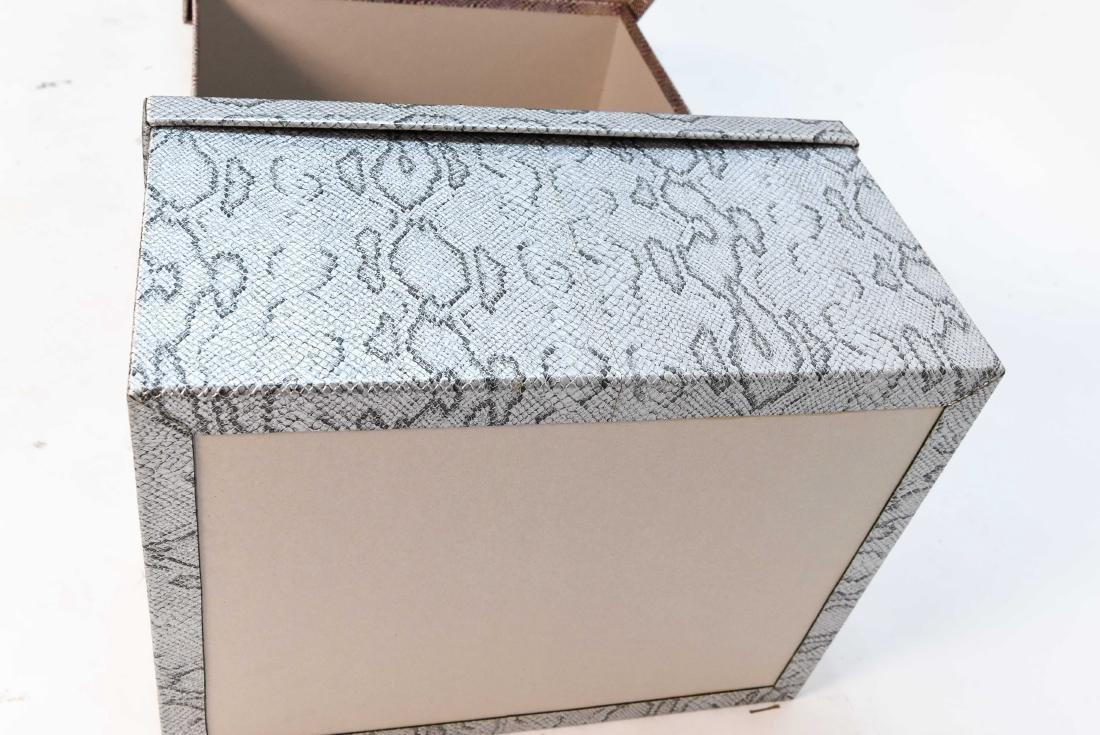 CARLO RAMPAZZI (5) METALLIC FAUX SNAKESKIN BOXES - 7
