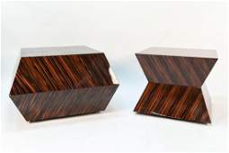 CARLO RAMPAZZI CUSTOM PAIR OF ROLLING TABLES