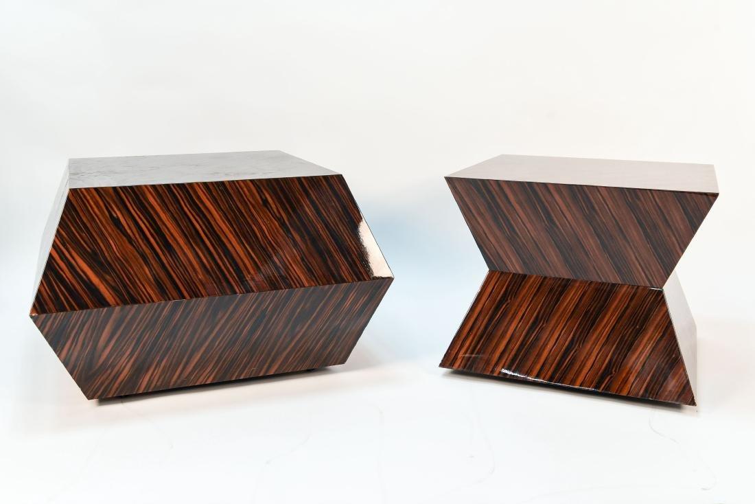 CARLO RAMPAZZI CUSTOM PAIR OF ROLLING TABLES