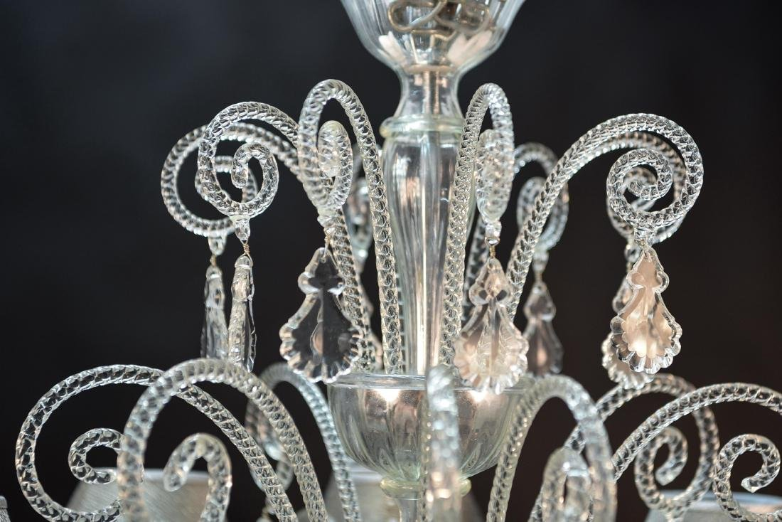 CARLO RAMPAZZI CUSTOM MURANO GLASS CHANDELIER - 7