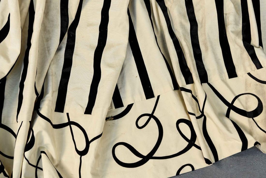 (9) CARLO RAMPAZZI BLACK & WHITE CURTAIN PANELS - 2