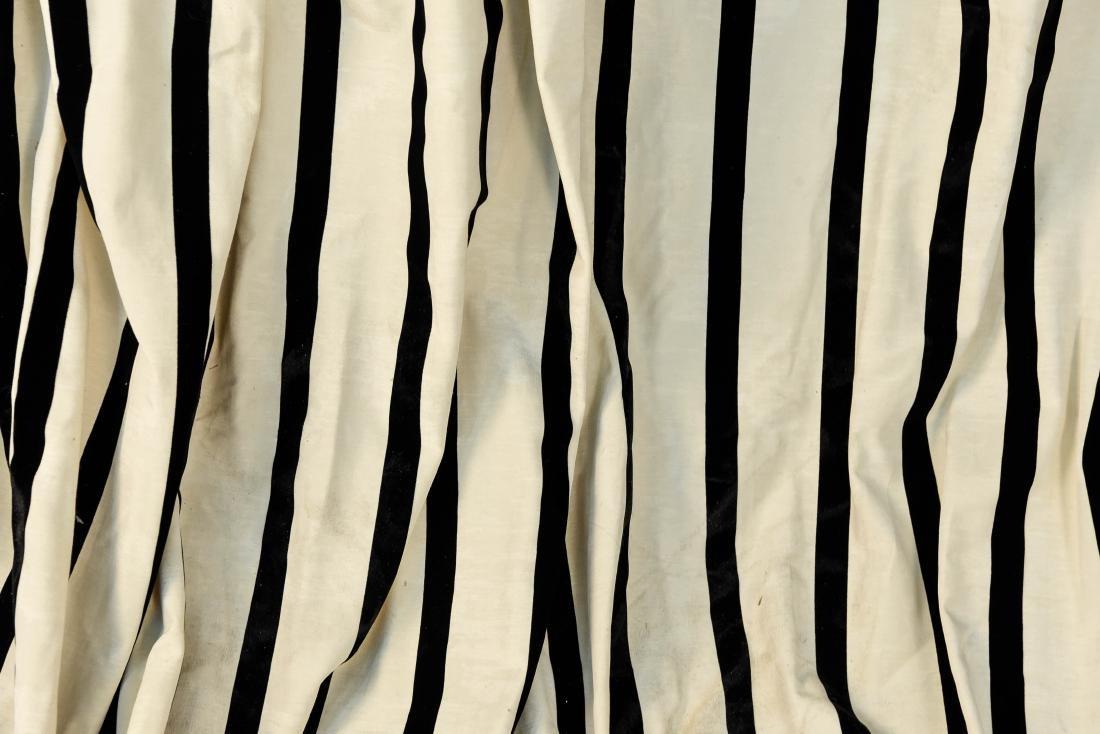 (9) CARLO RAMPAZZI BLACK & WHITE CURTAIN PANELS - 3