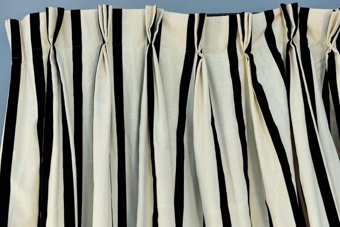 (9) CARLO RAMPAZZI BLACK & WHITE CURTAIN PANELS - 4