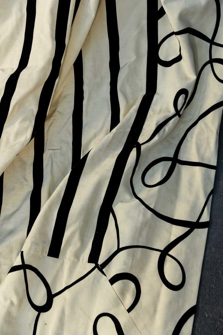 (9) CARLO RAMPAZZI BLACK & WHITE CURTAIN PANELS - 5
