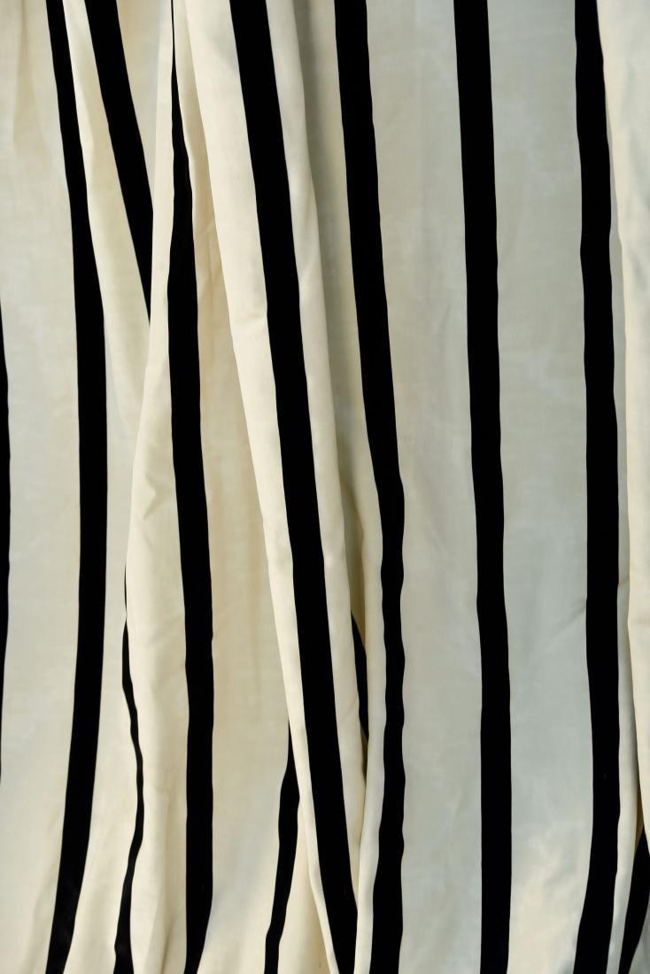 (9) CARLO RAMPAZZI BLACK & WHITE CURTAIN PANELS - 6