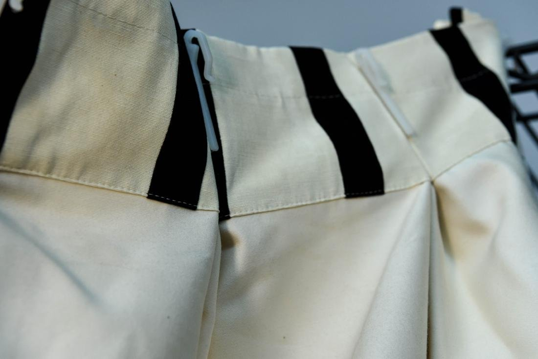 (9) CARLO RAMPAZZI BLACK & WHITE CURTAIN PANELS - 8