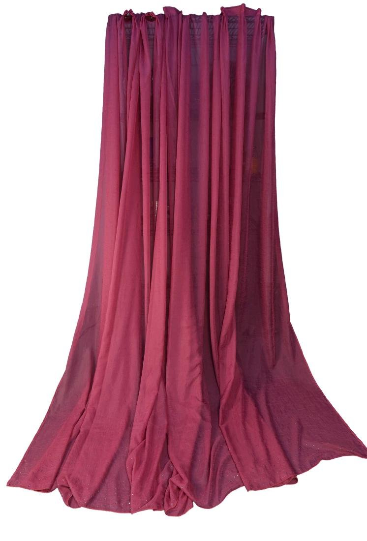 (4) CARLO RAMPAZZI PINK SPARKLE CURTAINS