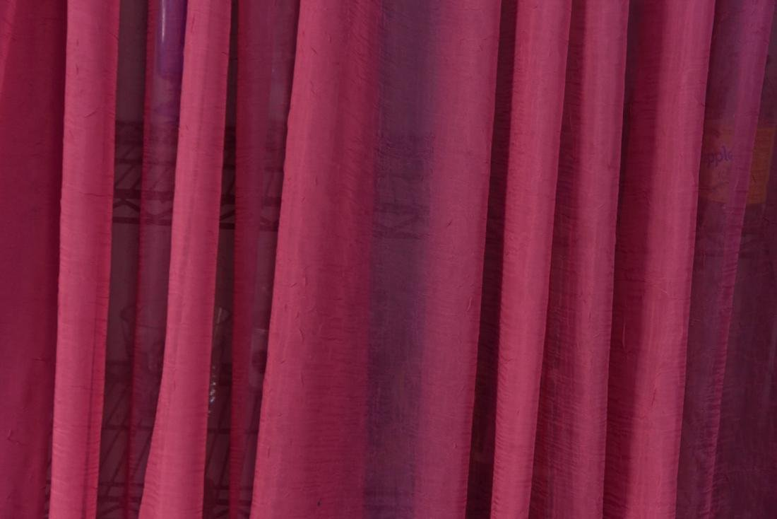 (4) CARLO RAMPAZZI PINK SPARKLE CURTAINS - 4