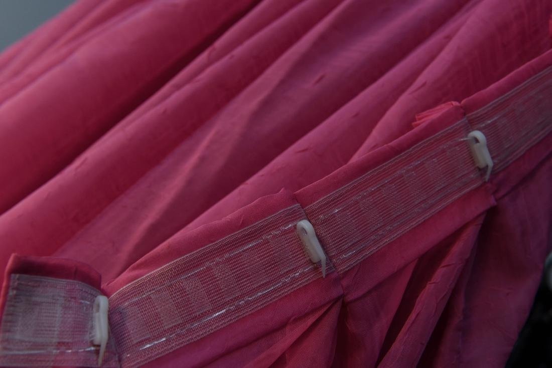 (4) CARLO RAMPAZZI PINK SPARKLE CURTAINS - 6