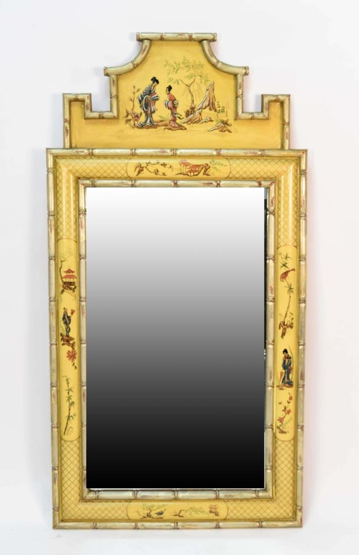 CHINOISERIE DECORATED MIRROR