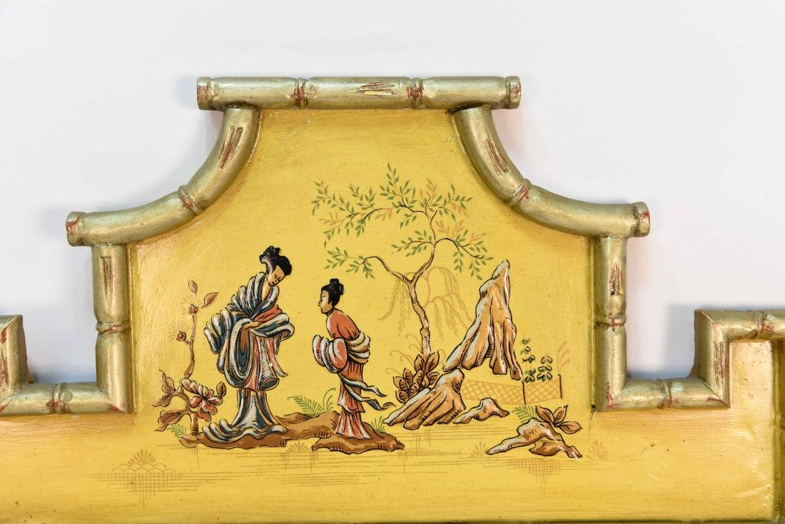 CHINOISERIE DECORATED MIRROR - 2