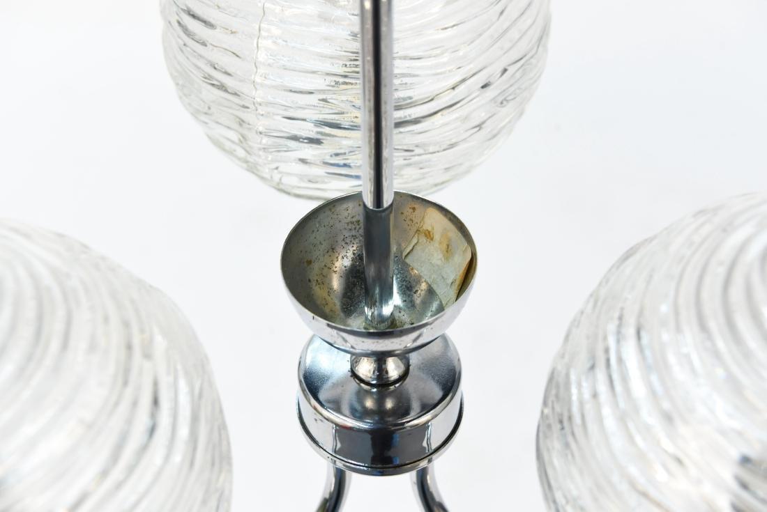ITALIAN CHROME & GLASS MODERN CHANDELIER - 2