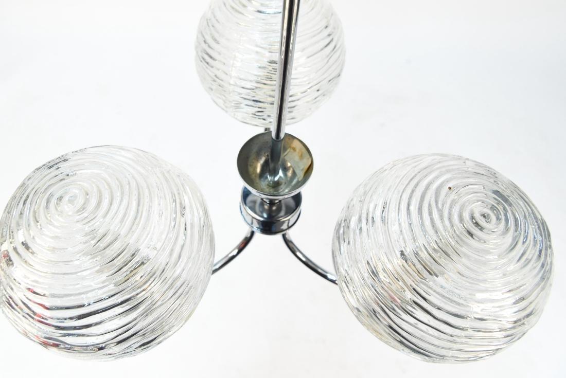 ITALIAN CHROME & GLASS MODERN CHANDELIER - 6
