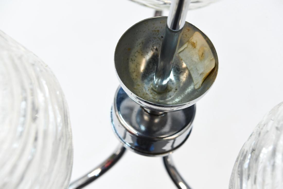ITALIAN CHROME & GLASS MODERN CHANDELIER - 7