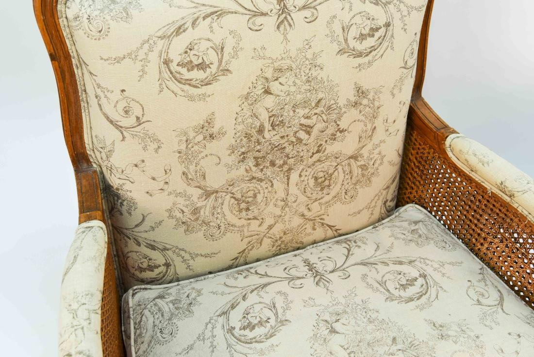 PAIR OF FRENCH CANED ARM CHAIRS - 10