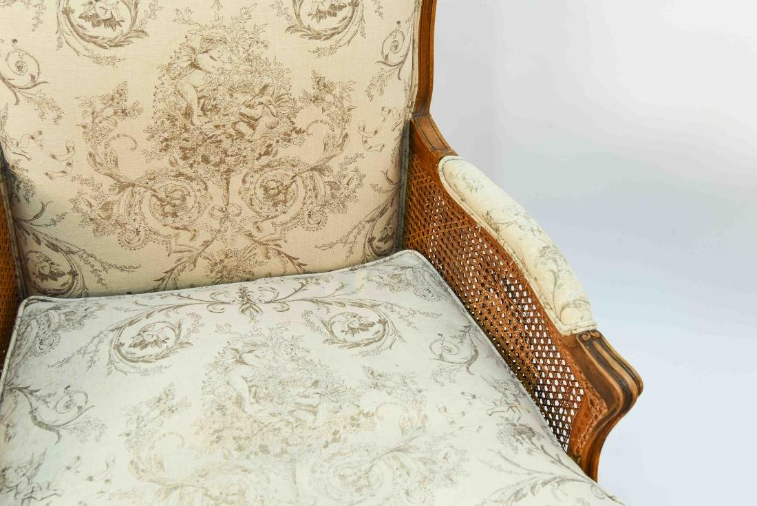 PAIR OF FRENCH CANED ARM CHAIRS - 2