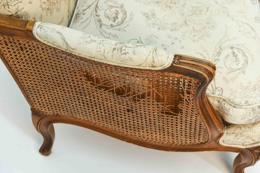PAIR OF FRENCH CANED ARM CHAIRS - 4