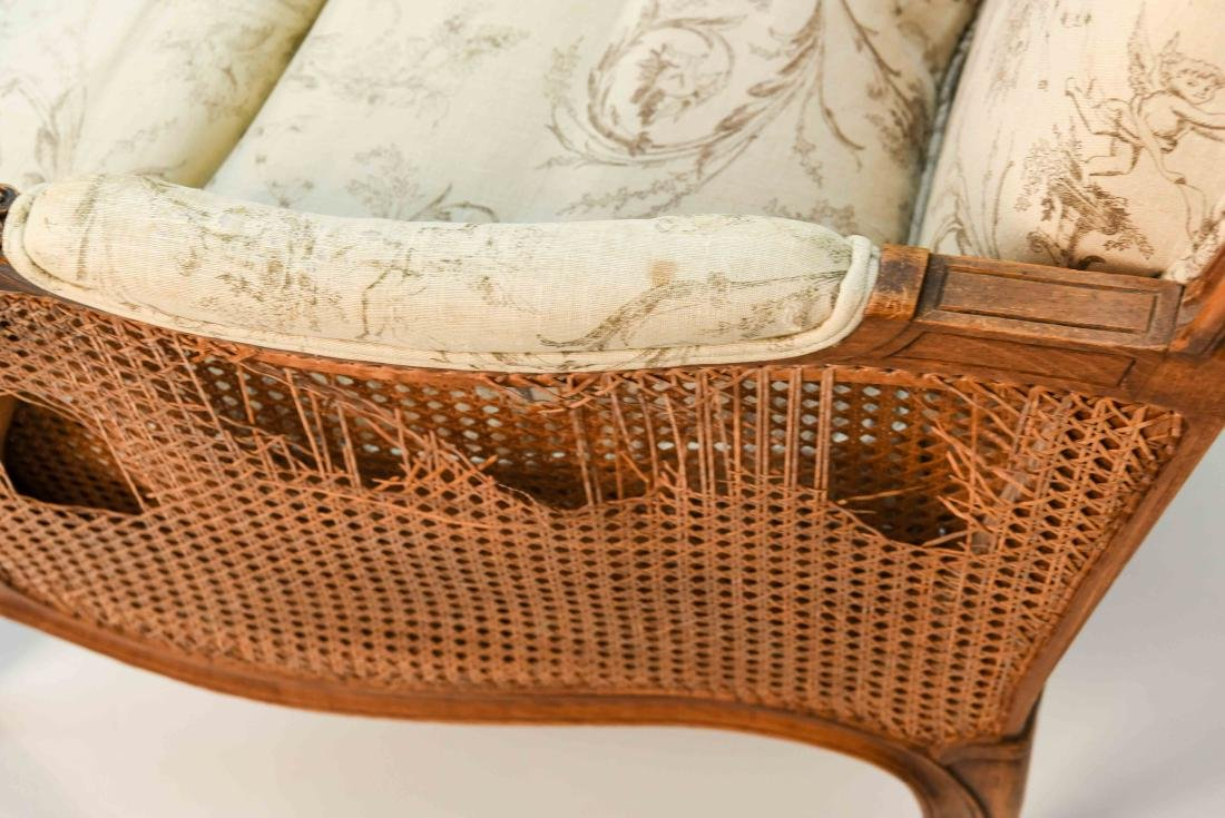 PAIR OF FRENCH CANED ARM CHAIRS - 6