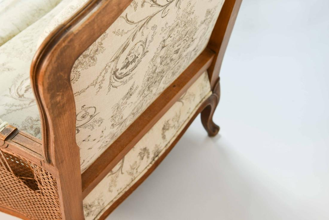 PAIR OF FRENCH CANED ARM CHAIRS - 7