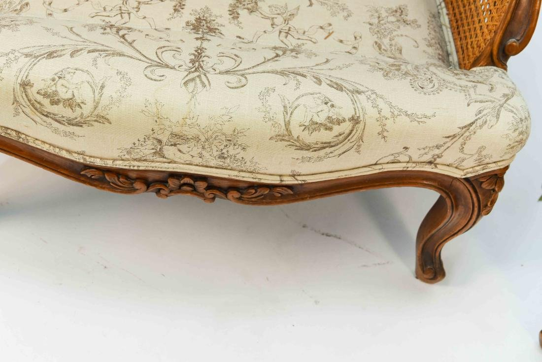 PAIR OF FRENCH CANED ARM CHAIRS - 9