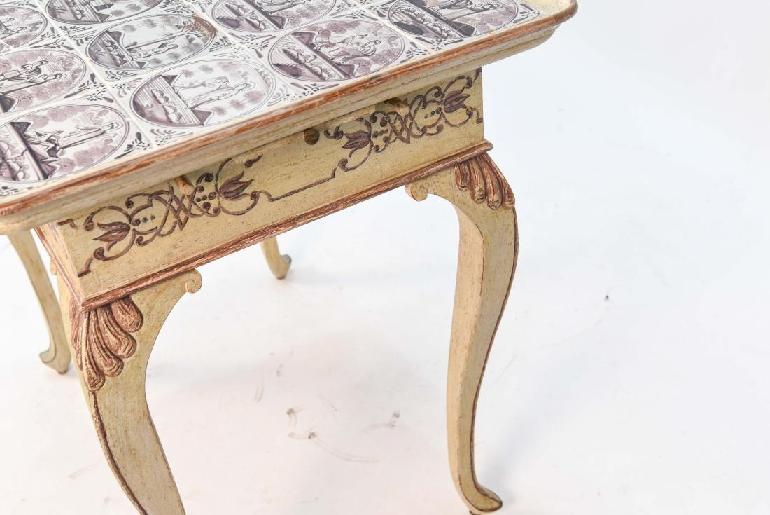 18TH C. ROCOCO TABLE W/ DUTCH TILES - 6