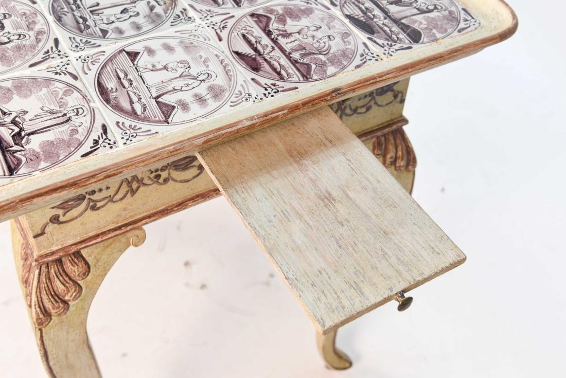 18TH C. ROCOCO TABLE W/ DUTCH TILES - 7