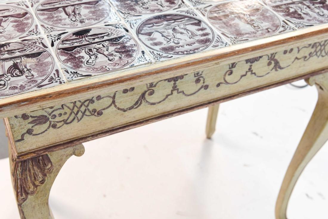 18TH C. ROCOCO TABLE W/ DUTCH TILES - 8