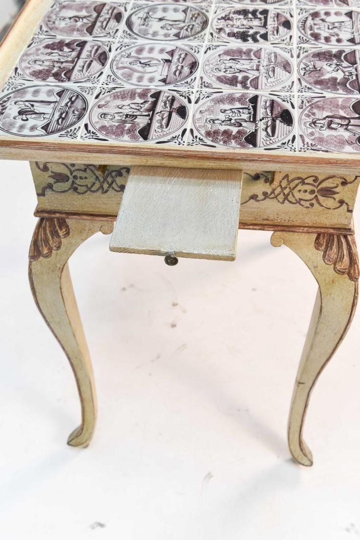 18TH C. ROCOCO TABLE W/ DUTCH TILES - 9
