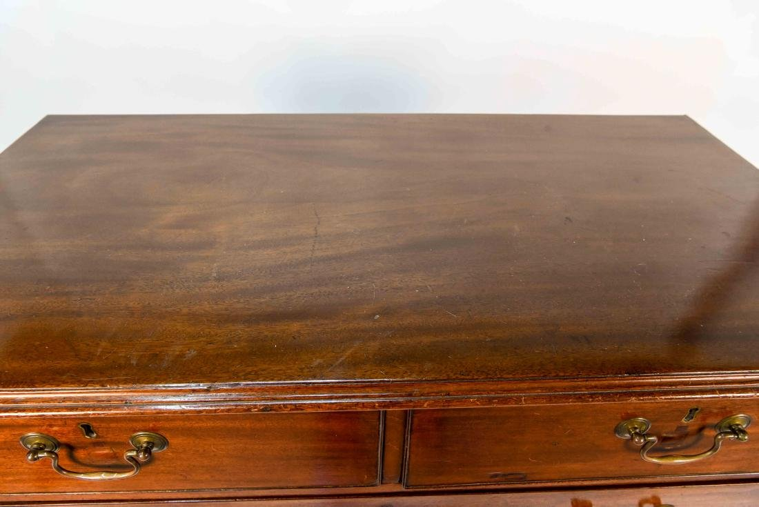 GEORGIAN TWO OVER THREE CHEST OF DRAWERS - 5