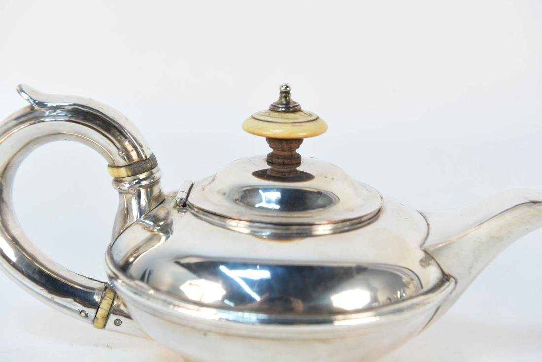 EARLY 19TH C. SILVER ON COPPER MINIATURE TEAPOT - 2