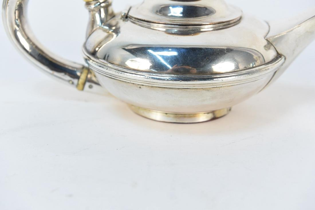 EARLY 19TH C. SILVER ON COPPER MINIATURE TEAPOT - 3