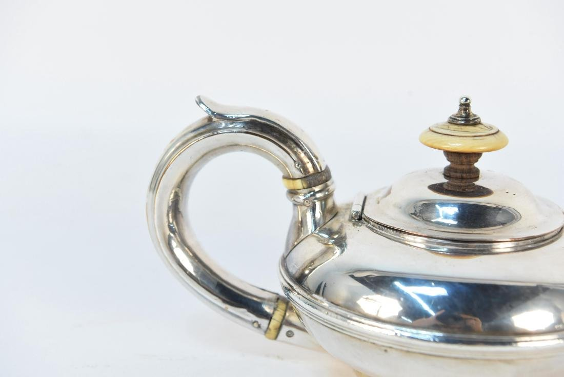 EARLY 19TH C. SILVER ON COPPER MINIATURE TEAPOT - 4