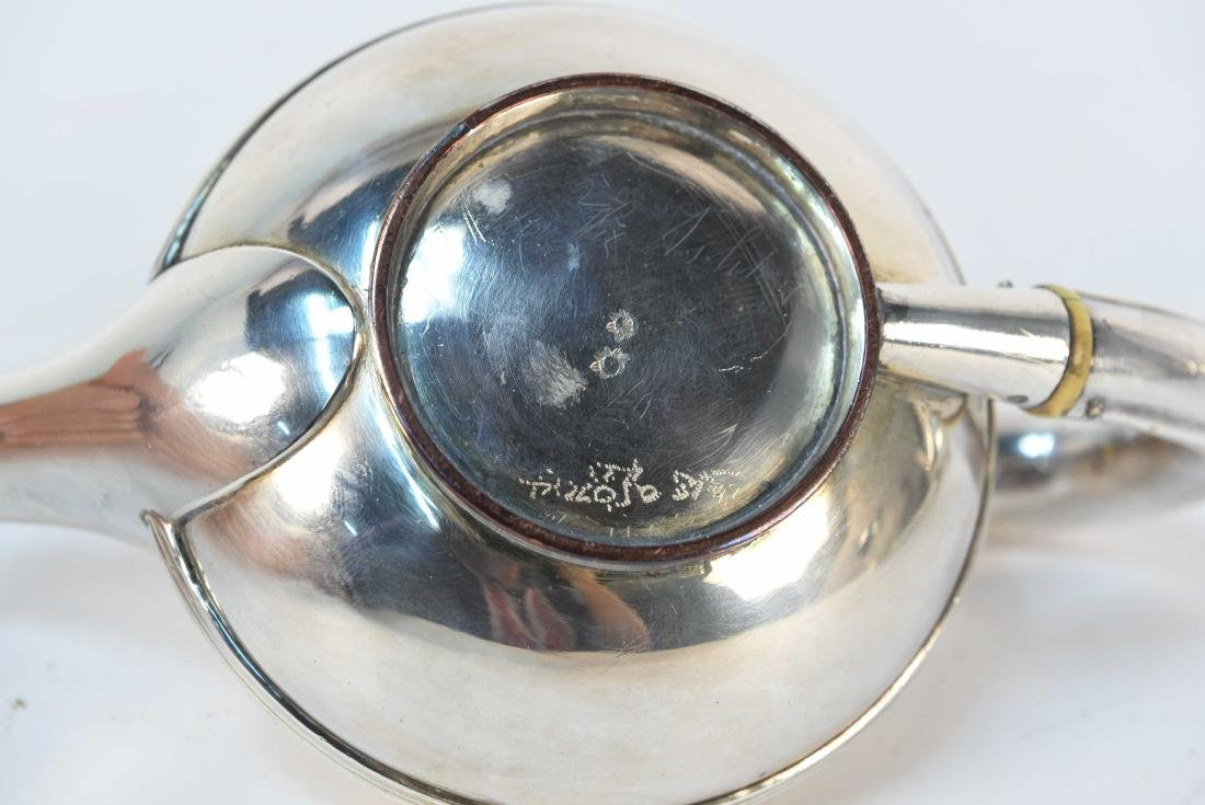 EARLY 19TH C. SILVER ON COPPER MINIATURE TEAPOT - 6