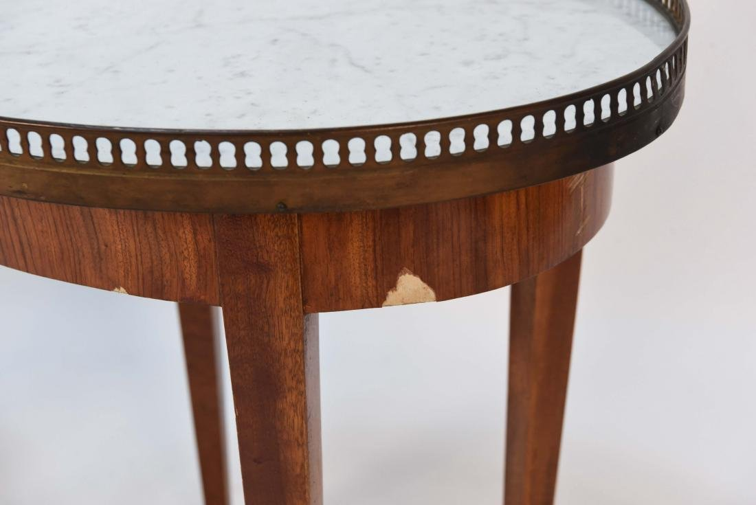 PAIR OF LOUIS XVI STYLE MARBLE TOP SIDE TABLES - 2