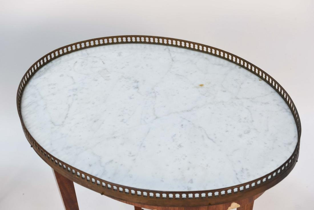 PAIR OF LOUIS XVI STYLE MARBLE TOP SIDE TABLES - 4