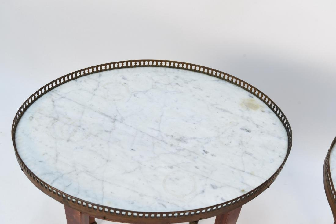 PAIR OF LOUIS XVI STYLE MARBLE TOP SIDE TABLES - 5