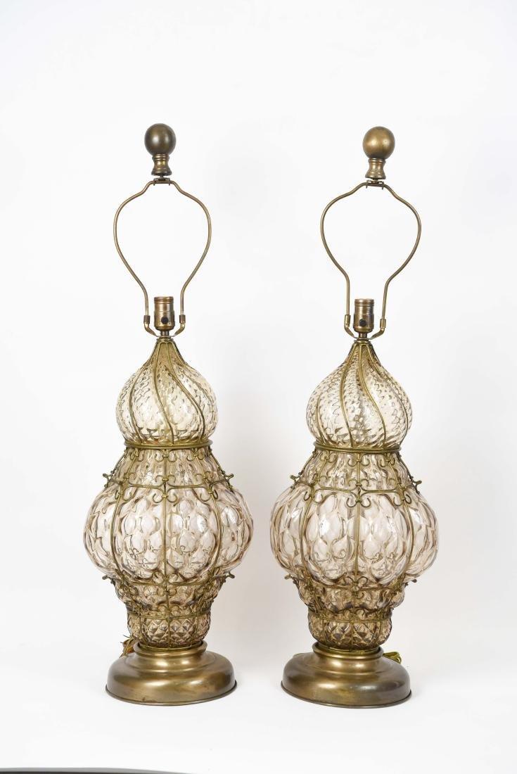 PAIR OF MID-CENTURY MARBORO LAMPS