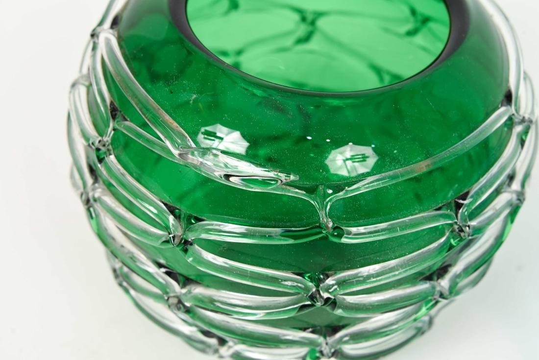 (2) GLASS VASES - 2