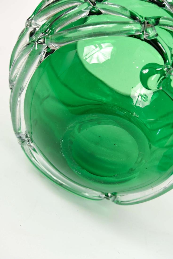 (2) GLASS VASES - 8