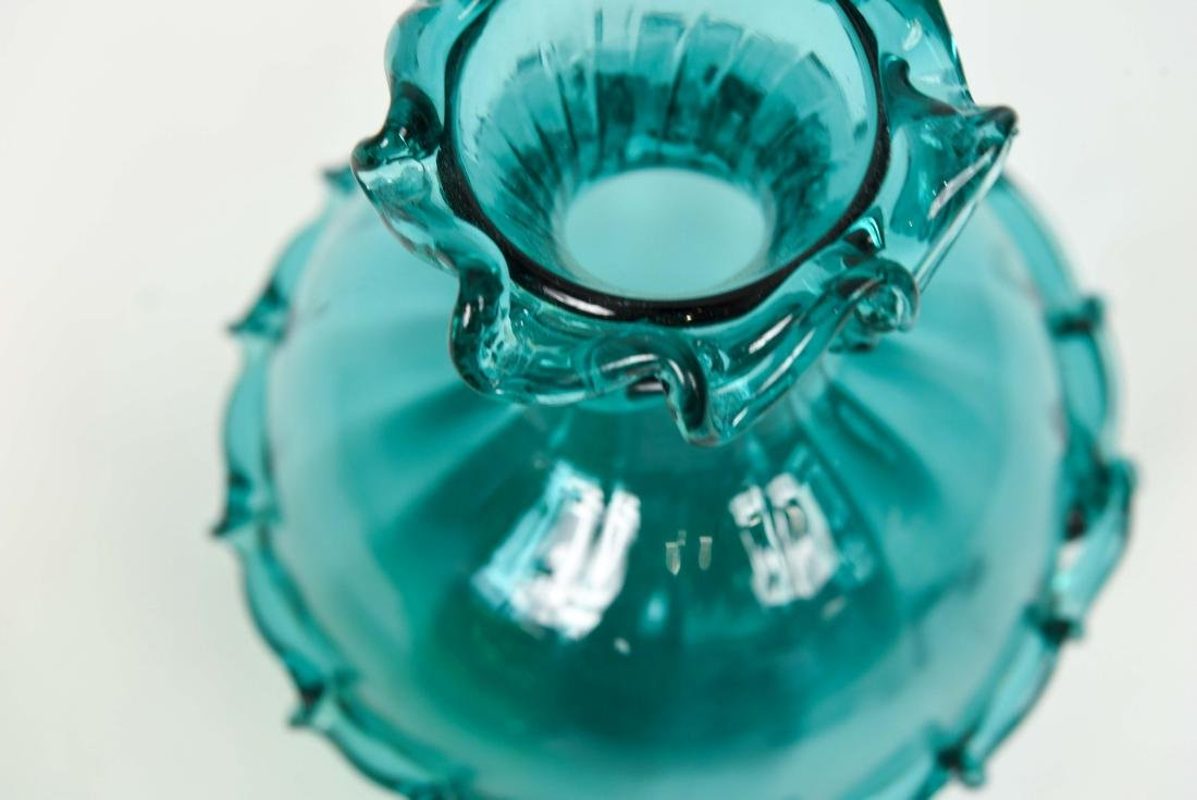 (2) GLASS VASES - 9