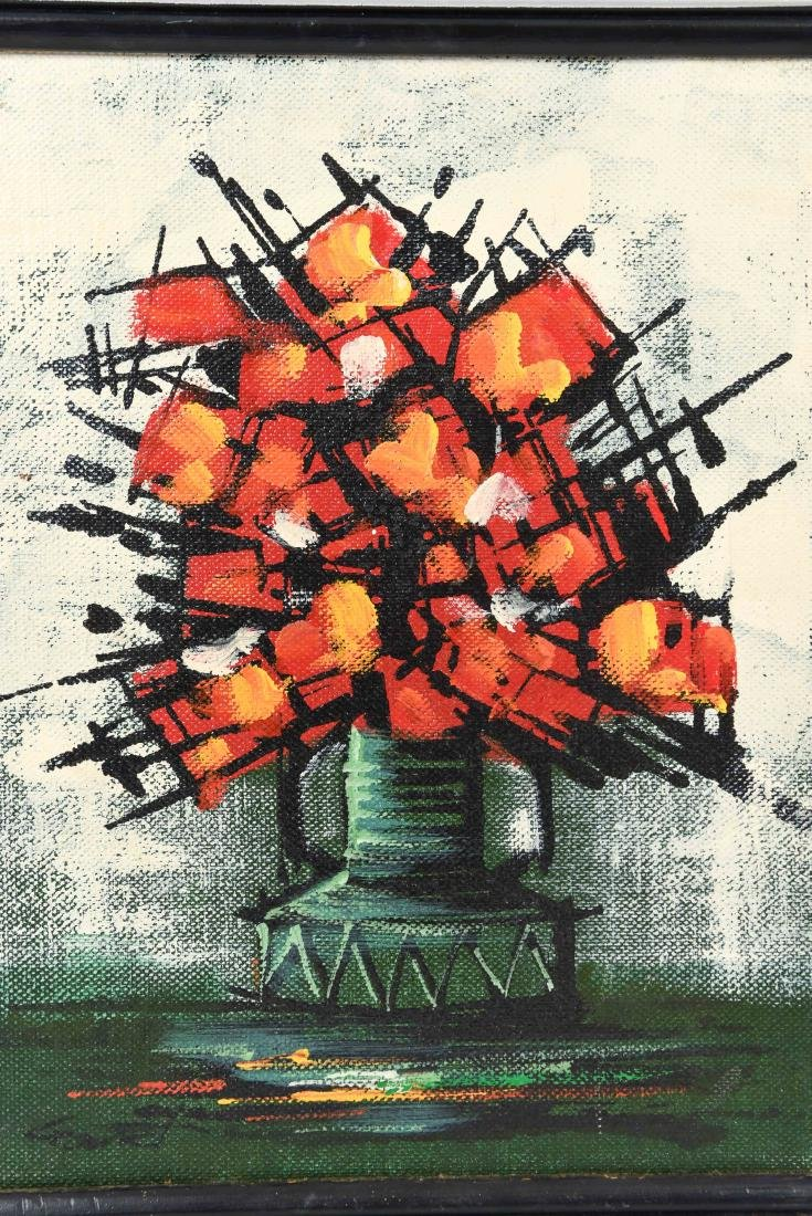 1960'S ABSTRACT FLOWERS O/C - 2