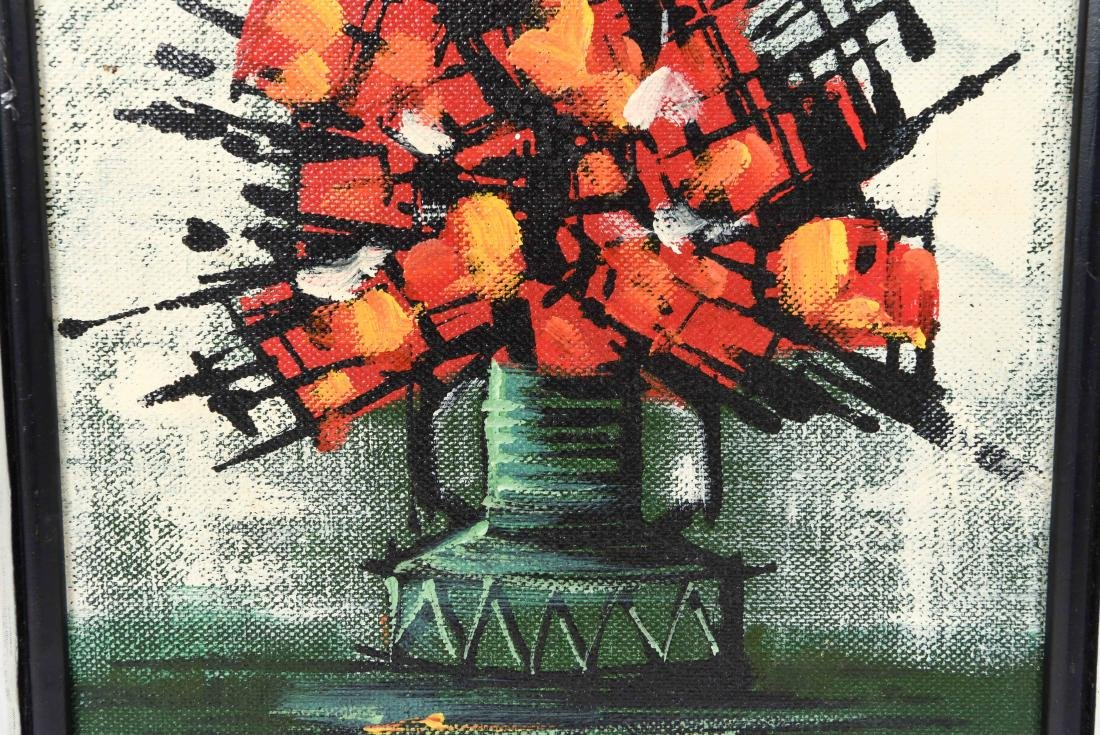 1960'S ABSTRACT FLOWERS O/C - 5
