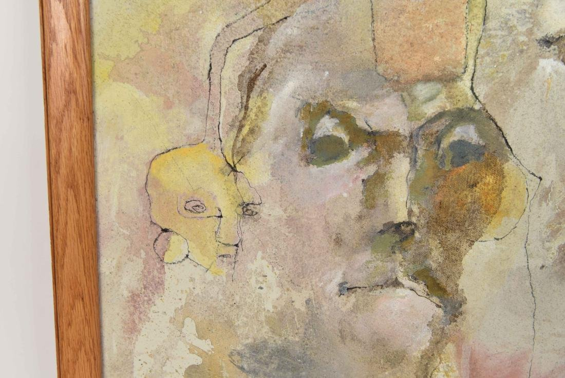 20TH CENTURY ABSTRACT O/C FACES - 4