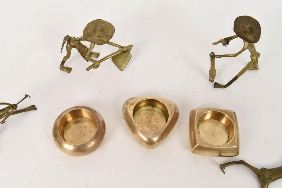 GROUPING OF DECORATIVE BRASS FIGURES ETC. - 7