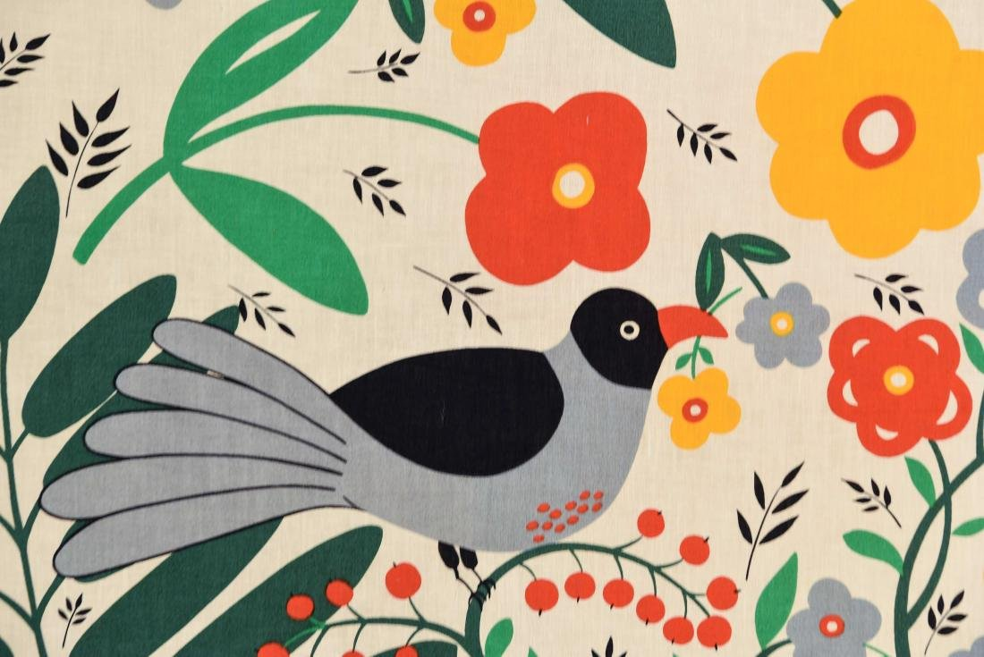 20TH C. FLOWERS AND BIRDS TEXTLE - 2