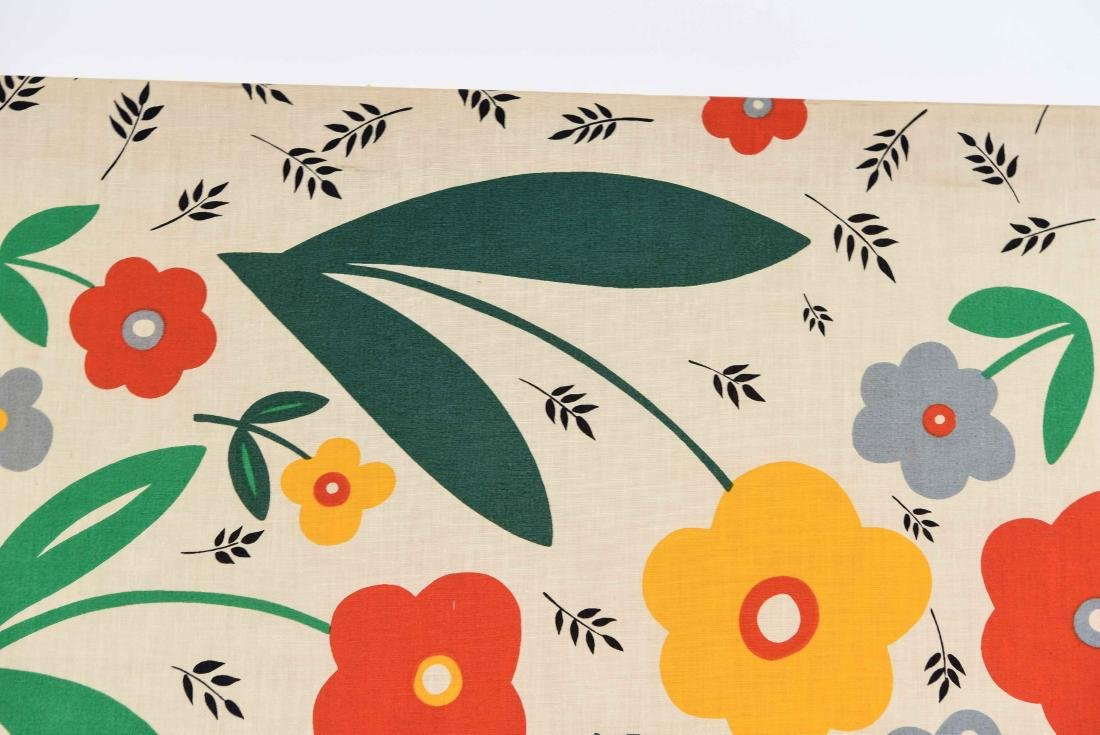 20TH C. FLOWERS AND BIRDS TEXTLE - 3