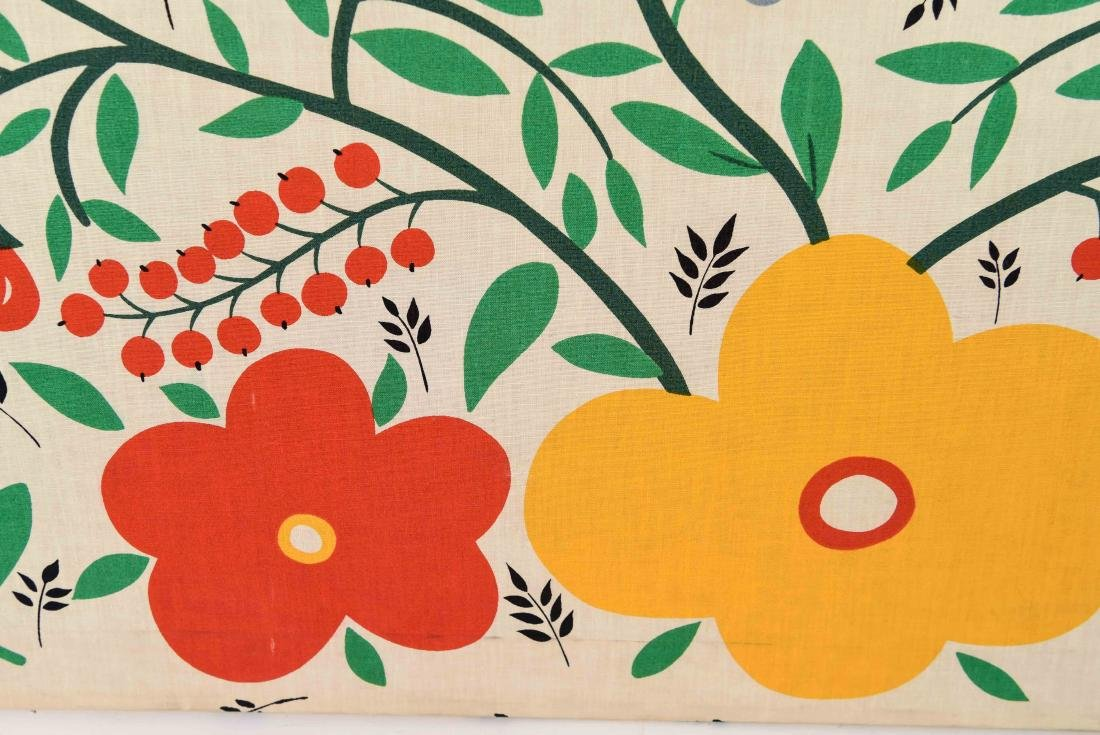 20TH C. FLOWERS AND BIRDS TEXTLE - 6
