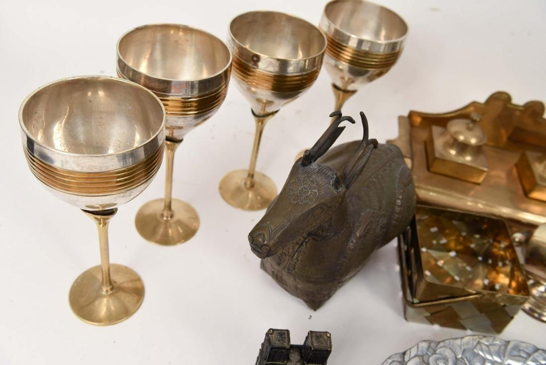 GROUPING OF METALWARE INCL. BRASS - 9