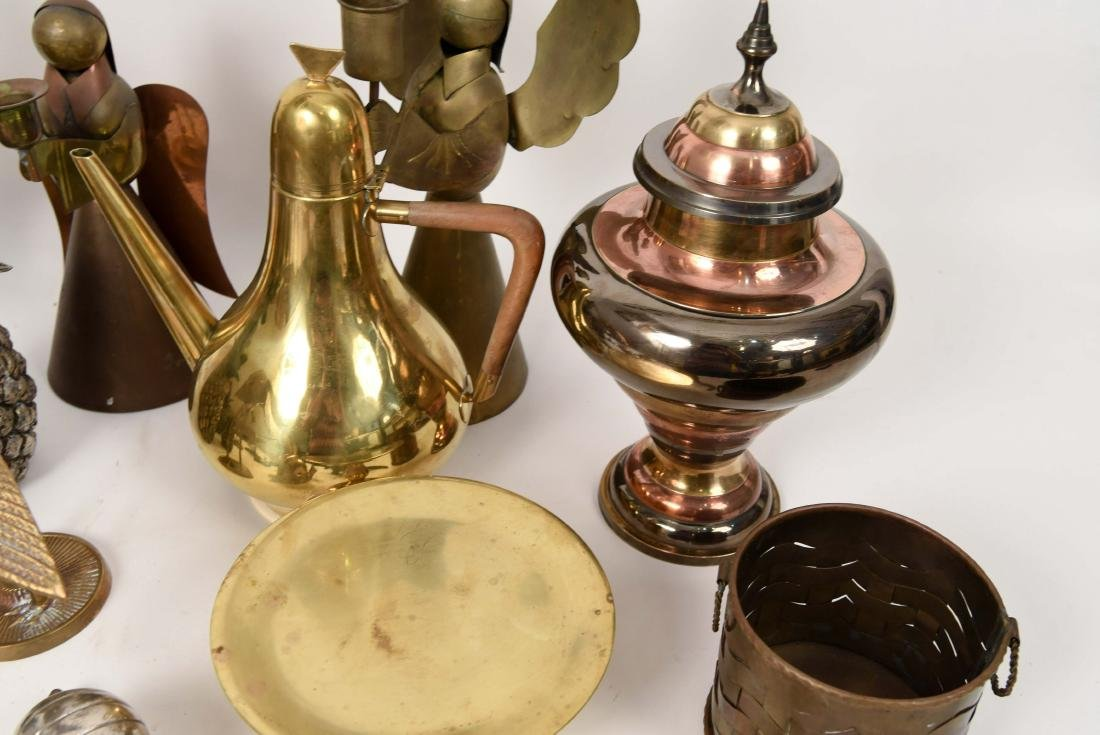 GROUPING OF DECORATIVE BRASS OBJECTS - 7