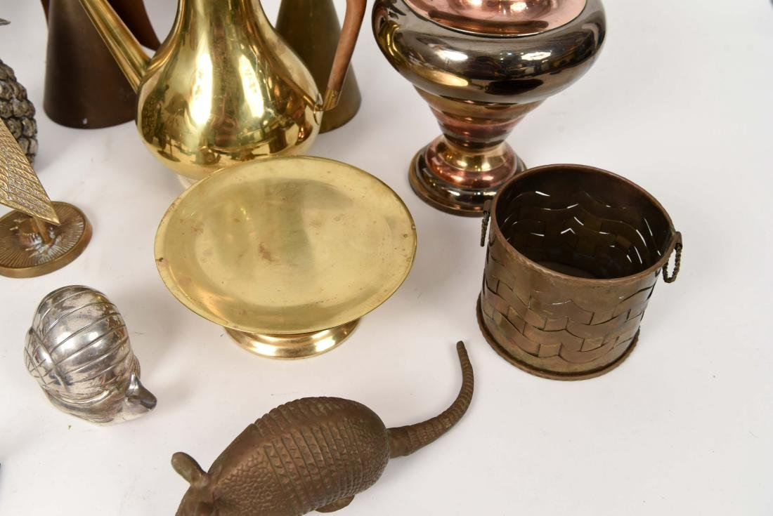 GROUPING OF DECORATIVE BRASS OBJECTS - 8